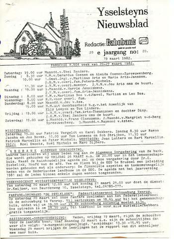Ysselsteyns Nieuwsblad 1982-03-19