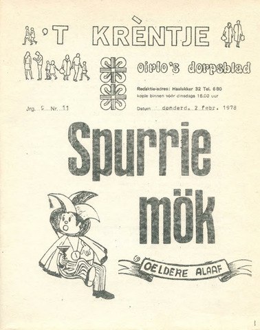 Oirlo's dorpsblad 't Krèntje 1978-02-02