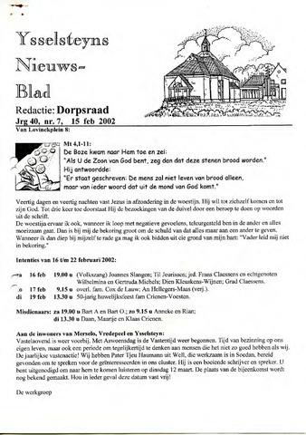 Ysselsteyns Nieuwsblad 2002-02-15