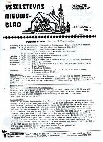 Ysselsteyns Nieuwsblad 1985-06-14