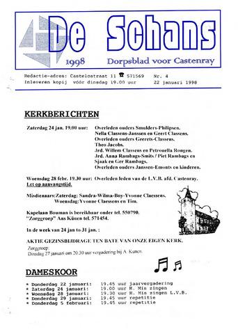 Castenrays dorpsblad De Schans 1998-01-22