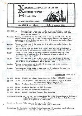 Ysselsteyns Nieuwsblad 1988-08-05