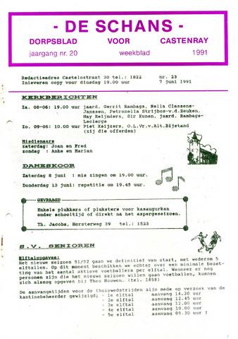 Castenrays dorpsblad De Schans 1991-06-07
