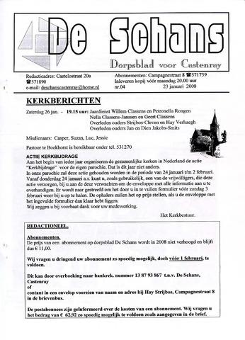 Castenrays dorpsblad De Schans 2008-01-23