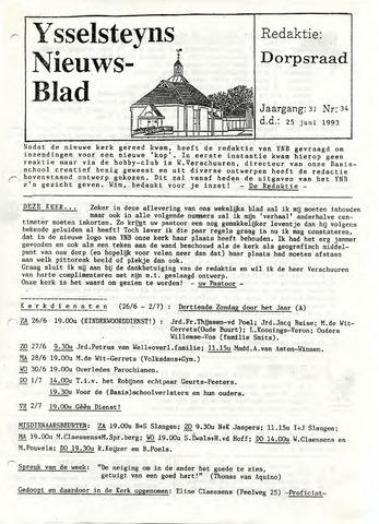 Ysselsteyns Nieuwsblad 1993-06-25