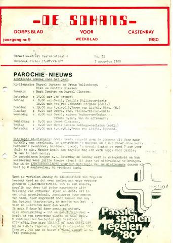 Castenrays dorpsblad De Schans 1980-08-01