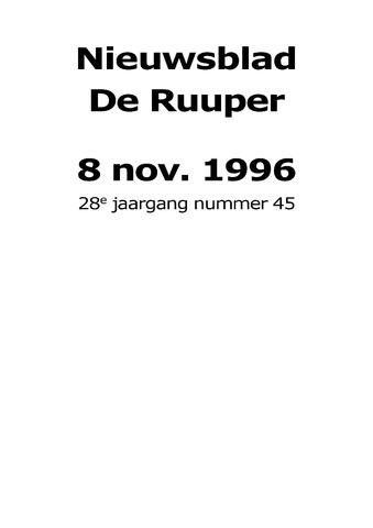 Dorpsblad Leunen-Veulen-Heide 1996-11-08