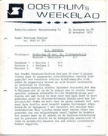 Oostrum's Weekblad 1973-11-30