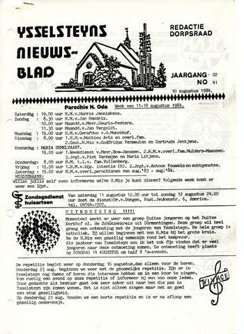 Ysselsteyns Nieuwsblad 1984-08-10