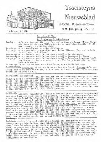 Ysselsteyns Nieuwsblad 1974-02-15