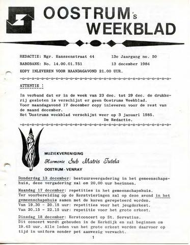 Oostrum's Weekblad 1984-12-13