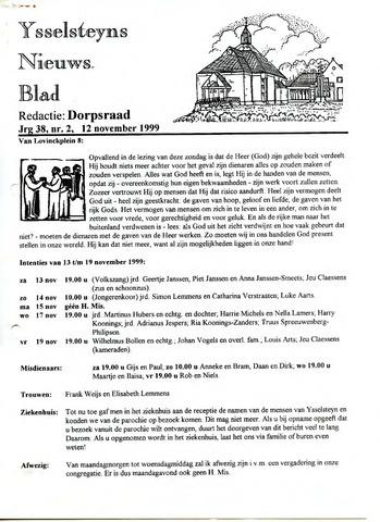 Ysselsteyns Nieuwsblad 1999-11-12