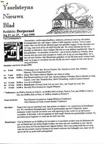 Ysselsteyns Nieuwsblad 1999-05-07