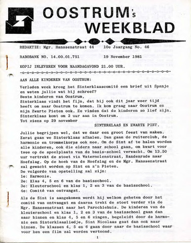 Oostrum's Weekblad 1981-11-19