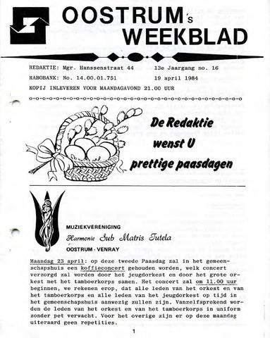 Oostrum's Weekblad 1984-04-19