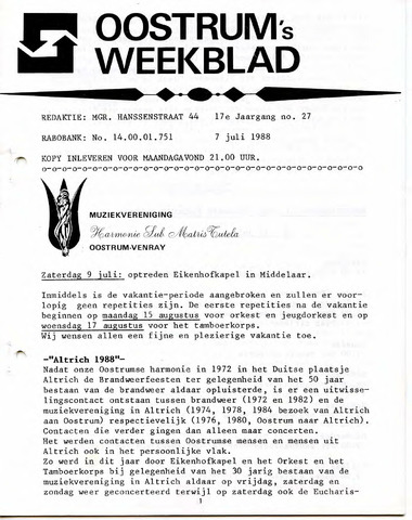 Oostrum's Weekblad 1988-07-07
