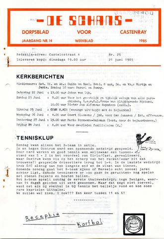 Castenrays dorpsblad De Schans 1985-06-21