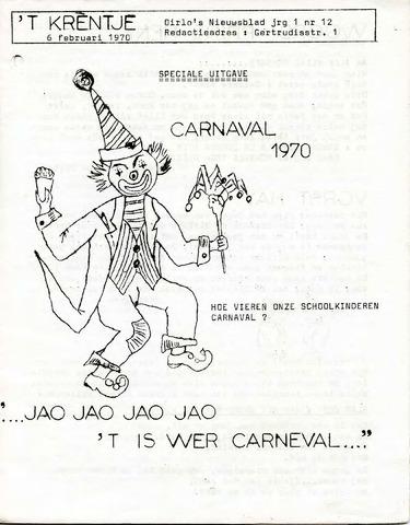Oirlo's dorpsblad 't Krèntje 1970-02-06