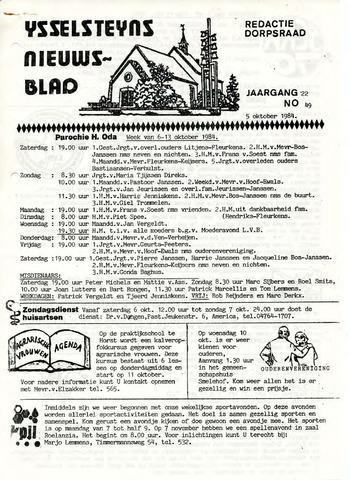 Ysselsteyns Nieuwsblad 1984-10-05