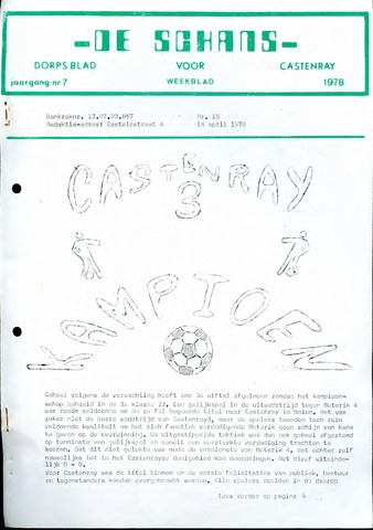 Castenrays dorpsblad De Schans 1978-04-14