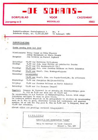 Castenrays dorpsblad De Schans 1980-02-15