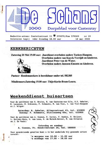 Castenrays dorpsblad De Schans 2000-05-18