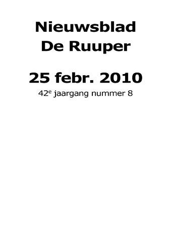 Dorpsblad Leunen-Veulen-Heide 2010-02-25