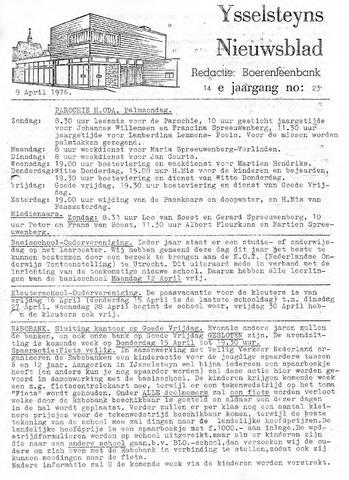 Ysselsteyns Nieuwsblad 1976-04-09