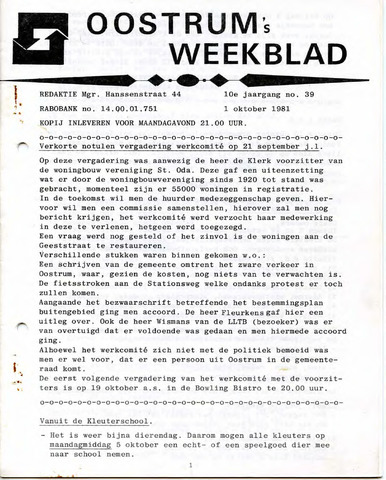 Oostrum's Weekblad 1981-10-01