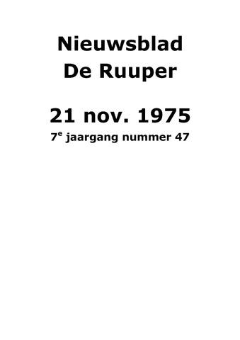 Dorpsblad Leunen-Veulen-Heide 1975-11-21