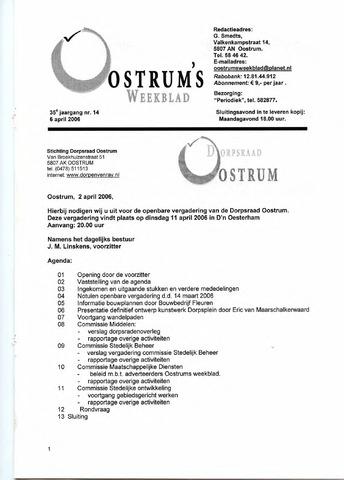 Oostrum's Weekblad 2006-04-06