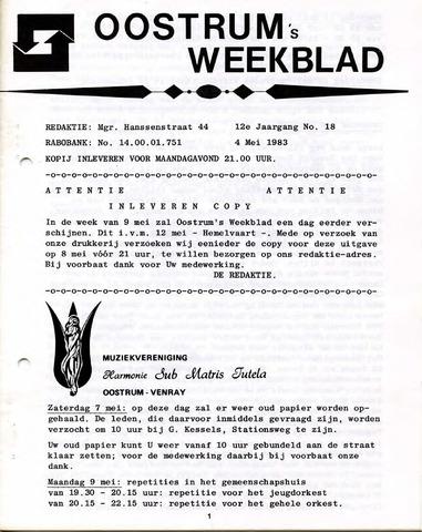 Oostrum's Weekblad 1983-05-04