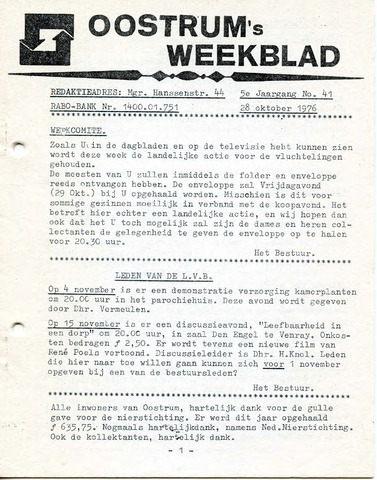 Oostrum's Weekblad 1976-10-28