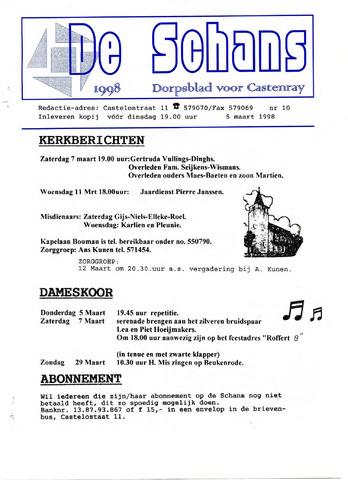Castenrays dorpsblad De Schans 1998-03-05