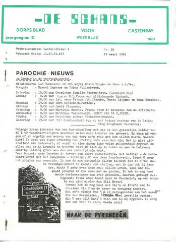 Castenrays dorpsblad De Schans 1981-03-13