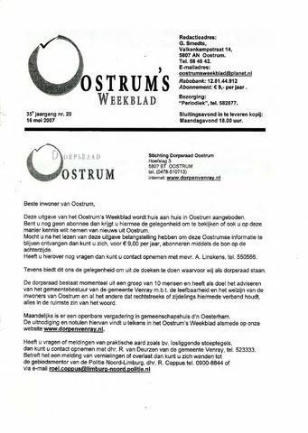 Oostrum's Weekblad 2007-05-16