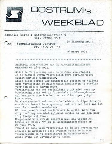 Oostrum's Weekblad 1973-03-16