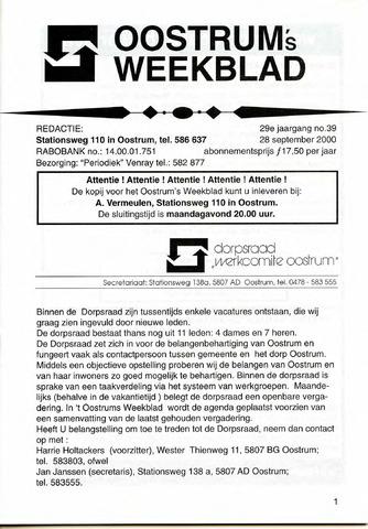 Oostrum's Weekblad 2000-09-28
