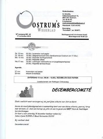 Oostrum's Weekblad 2010-11-11