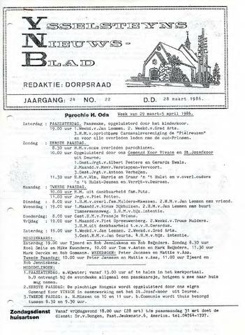 Ysselsteyns Nieuwsblad 1986-03-28