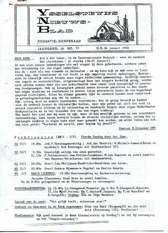 Ysselsteyns Nieuwsblad 1990-01-26