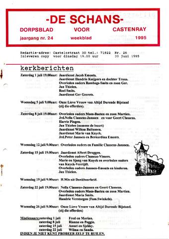 Castenrays dorpsblad De Schans 1995-06-30
