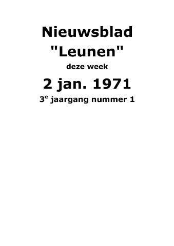 Dorpsblad Leunen-Veulen-Heide 1971