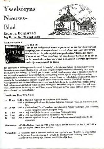 Ysselsteyns Nieuwsblad 2001-04-27