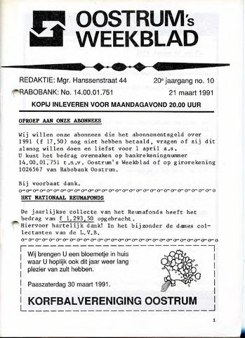 Oostrum's Weekblad 1991-03-21