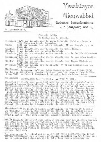 Ysselsteyns Nieuwsblad 1973-12-14