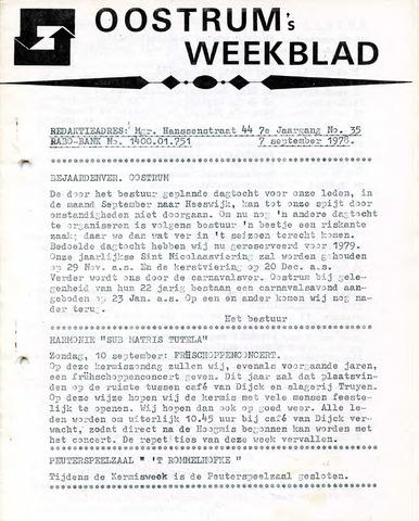 Oostrum's Weekblad 1978-09-07