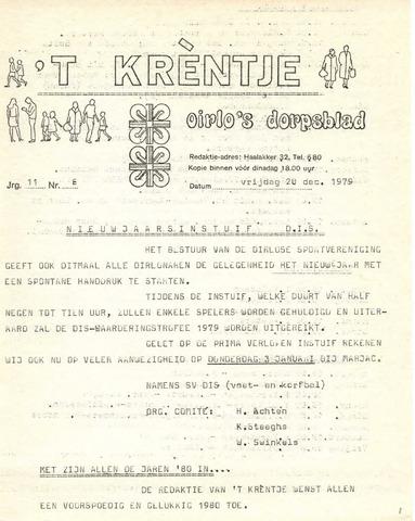 Oirlo's dorpsblad 't Krèntje 1979-12-28