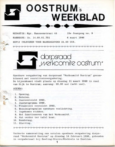 Oostrum's Weekblad 1986-03-06