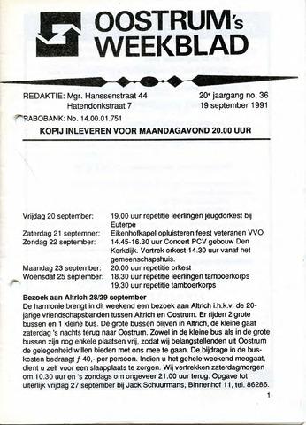 Oostrum's Weekblad 1991-09-19